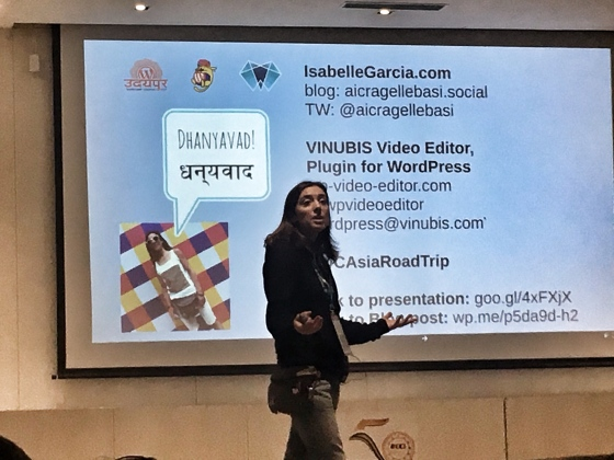 How to Create Video for Your WordPress Blog, a talk by Isabelle Garcia at WordCamp Udaipur