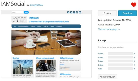 Download IAMSocial from the official WordPress Theme Directory