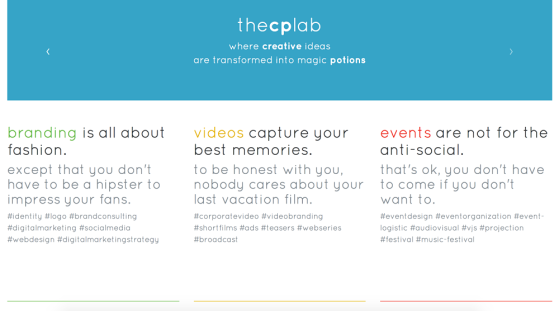 thecplab website - where creative ideas are transformed into magic potions