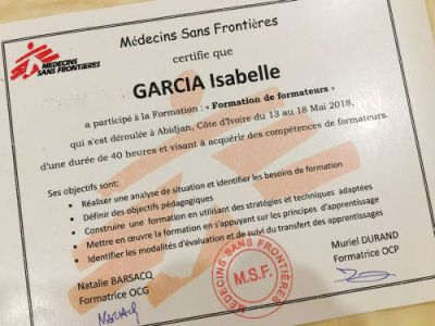 MSF ToT Training of Trainers Diploma