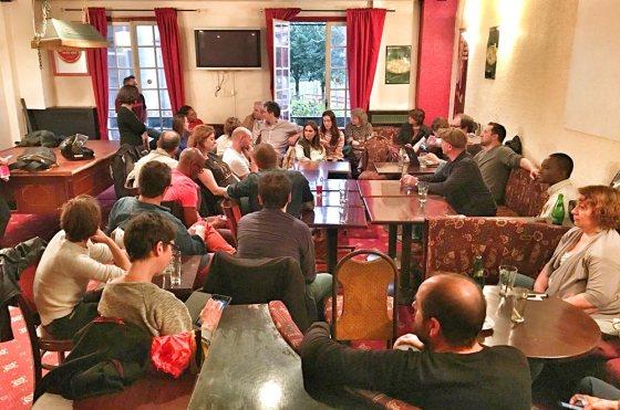 About 40 WordPress Parisian fellows showed up at the WordPress Paris Association monthly meetup
