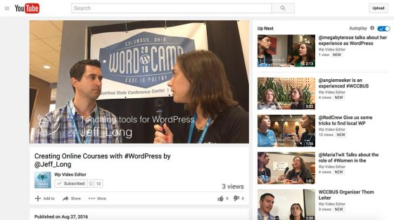 WordPress People on Vinubis Video Editor Youtube Channel