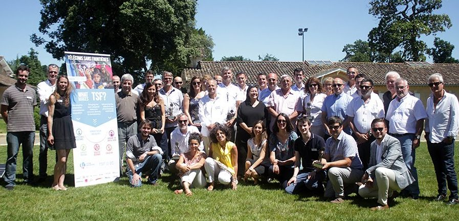 Télécoms Sans Frontières staff and partners at the 20-year anniversary event