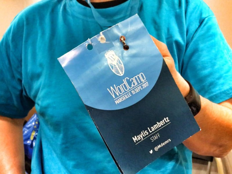 WordCamp Marseille Badge