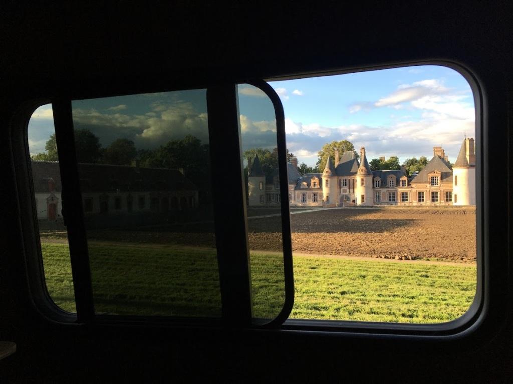 View of the Château de Grandchamps from Karmavan's window